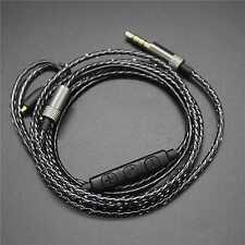 Audio Kabel für Shure SE215 SE315 SE425 UE900 Mit Fernbedienung Mikrofon Schwarz