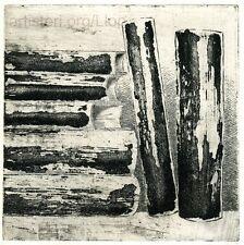 "Artisteri / Llop - ""Libros 1"" - grabado aguafuerte original"