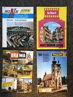 Lot x4 Model Railroad Catalogs + bonus Pamphlet - Atlas / Kibri / BraWa / Faller