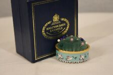 Halcyon Days Enamels Sewing Notion Doves Pin Cushion Excellent In Original Box