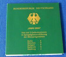 Weltausstellung Expo 2000 Hannover 10 DM Gedenkmünzen PP Top!! 925 Silber !!
