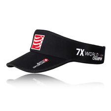 Compressport Unisex Visor Cap Black Sports Running Triathlon Breathable