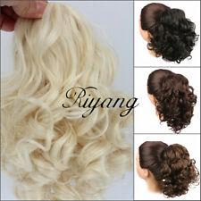 Long Curly Scrunchies Hair Bun Extension Black / Brown Hairpiece Chignon Fashion
