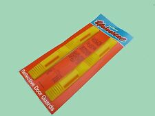 CAR VAN REFLECTIVE DOOR EDGE PROTECTOR GUARDS X2 YELLOW + AMBER REFLECTORS