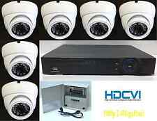 Professional HD-CVI 1080p Security Camera System, 6x 2.4MP Dome Cameras 8ch DVR