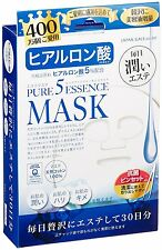 New Pure Five Essence Mask 30 Sheet Natural Cotton 100% Hyaluronic Acid,MIJ