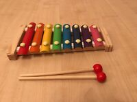 KIDS TOY XYLOPHONE / GLOCKENSPIEL & BEATERS MUSIC CHILDS CHILDREN PERCUSSION