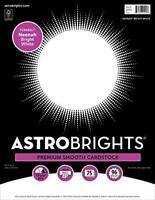 """Astrobrights/Neenah Bright White Cardstock, 8.5"""" x 11"""", 65 lb/176 gsm, White, 75"""
