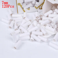120Pcs/box pre rolled natural unrefined cigarette filter rolling paper tips 7mm-