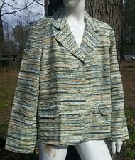 EXC!! NEW Lined Coldwater Creek Womens Striped PXL Jacket