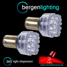 380 BAY15D 1157 XENON RED 24 DOME LED STOP TAIL BRAKE LIGHT BULBS HID ST200402