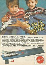 X7531 Lancia aerei Mattel - Pubblicità 1977 - Vintage Advertising