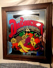 DuBouchett Mirror Advertising Sign Frame Cordials Liqueurs Liquor Bar Retro VTG