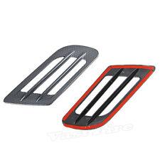 Car Fake Carbon Fiber Style Decorative Air Vent Hood Scoop Sticker Covers Pair