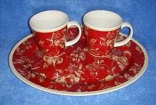 "Waverly, Fruit Toile (Garden Room) - Set Of A 14"" Platter & Two 4"" Mugs (VG++)"