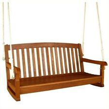 """New listing International Caravan 48"""" Two Seater Balau Swing with Curved Back"""