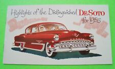 Oddball 1953 DESOTO SMALL COLOR CATALOG Brochure 8-pg ORIGINAL Xlnt+