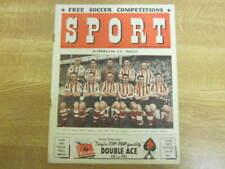 November 1952, SPORT, Sunderland FC, Alf Ramsey, Sammy McCarthy, Marcel Gaillard