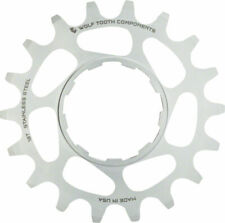 """Wolf Tooth Single Speed Stainless Steel Cog: 17T Compatiblewith 3/32"""" Chains"""