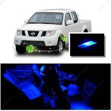 For Nissan Frontier 2005-2014 Blue LED Interior Kit + Blue License Light LED