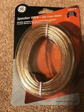 Ge Speaker Wire 25' 20Awg 22618 Quality Copper 2 Color For Stereo,Home Theater