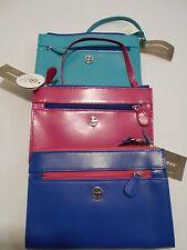 GIANI BERNINI womens recycled leather bright colors mini-purse wristlet NWT