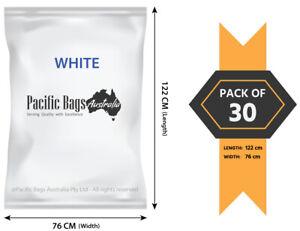 Pack of 30 - 76 x 122 cm Large Woven Polypropylene Grass / Garden / Chaff Bags