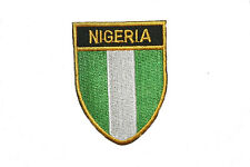 NIGERIA COUNTRY FLAG OVAL SHIELD FLAG EMBROIDERED IRON-ON PATCH CREST BADGE