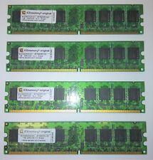 kit memoria ram 4 gb 4x1gb ddr2 533 cl 4 - 6- Layer Icememory original testate