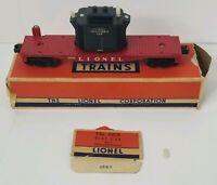 Lionel Train 6818 Flat Car With Transformer & Original Box Postwar