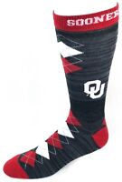 Oklahoma Sooners NCAA Black RMC Cardinal White Fan Nation Crew Socks