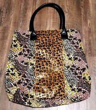 Disney Parks Print Hidden Mickey Leopard/Cheetah Tote Handbag Purse
