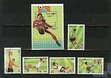 Cambodge 1993 FOOTBALL COUPE DU MONDE San Francisco Lot de 5 timbres & S/S MNH