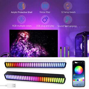 LED Car RGB Strip Light Bar Voice-activated Pickup Atmosphere Rhythm Lights DJ