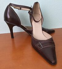 Joan & David Circa Comfort 365 High Heels Brown Leather Ankle Straps US Size 8 M