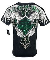 XTREME COUTURE by AFFLICTION Men T-Shirt LONG VIEW Biker WINGS MMA GYM S-XL $40