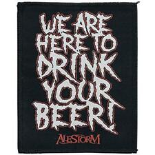 OFFICIAL LICENSED - ALESTORM - WE ARE HERE TO DRINK WOVEN SEW-ON PATCH METAL