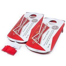 Budweiser Can Bean Bag Toss Cornhole Corn Hole Game Boards Travel Portable