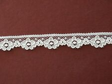 """Beautiful doll/miniatures lace,10yds,rayon/poly, Antique Roses, Cream, 5/8"""""""