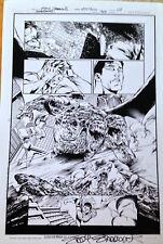 SUPERMAN 705 PG7 B&W PRINT by  EDDY BARROWS - SIGNED!!!