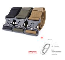 ENNIU Men Tactical Belt Buckle Belt Military Nylon Belt Free D type Carabiner