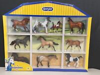 Breyer Stablemates Horse Set Of 10 With Display Case Shadow Box NIB