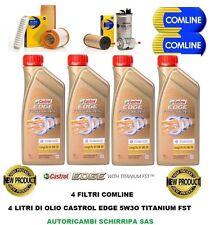KIT TAGLIANDO FILTRI + 4L OLIO CASTROL EDGE 5W30 FST FIAT GRANDE PUNTO 1.3 MJT