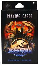 NEW Universal Studios Jurassic World Dinosaur Info Playing Cards
