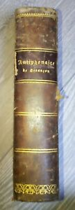 Livre Ancien Antiphonaire Romain Besançon 1895 Religieux
