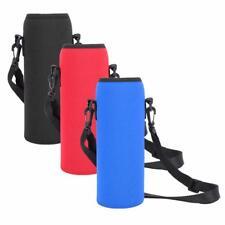Water Bottle Carrier Neoprene Insulated Cover Bag Holder Strap Travel For 1000ML