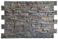 Steinwand, Wandverkleidung, Kunststein, Wand Steinoptik - Gebirgsstein dunkel
