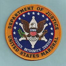 "UNITED STATES MARSHAL DOJ POLICE SHOULDER PATCH 4"" ORANGE"