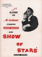 JACKIE WILSON 1964 / 1965 SHOW OF STARS TOUR PROGRAM BOOK / UNUSED TICKET / NMT