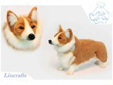 Welsh Corgi Plush Soft Toy Dog by Hansa from Lincrafts. 6686